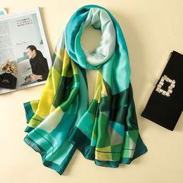 Canada Nouvelle arrivée designer foulard en soie femmes marque de luxe impression soie Foulard châle accessoires de mode femmes musulmanes foulard Offre