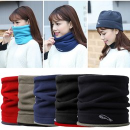 2019 chapéus de lã para homens Thefound Moda Feminina Homens Fleece Neck Warmer Hat Ski Wear Cachecol Gorro chapéus de lã para homens barato