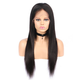 Wholesale Cheap Human Hair Blonde Wigs - Cheap Natural Looking Full Lace Human Hair Lace Wigs for Black Women 150% Density Glueless Brazilian Long Straight Lace Wigs With Baby Hair