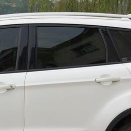 Wholesale window shade film - 0.5*3m Deep Black Car Window Film Sun Shade Curtains For Auto Side Window Car Tinted Film Foils Solar Protection Car Stickers