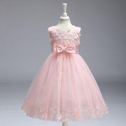 Wholesale toddler birthday clothes - New Fashion Princess Toddler Girls Dresses Summer 2018 Birthday Wedding Party Girl Tutu Dress Kids Dresses for Girls Clothes Wedding