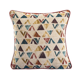 Wholesale Sofa Backrest - New 3 Color High-end Cushion Cover Simple Geometry Jacquard Cushion Cover Sofa Bedroom Pillow Cover Decoration Backrest Pillow