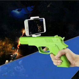 Pistola sportiva esterna online-AR Remote Sensing Game Outdoor Fun Sports Bluetooth Control Toy AR pistola migliorare il gioco realistico l pistola per Android iOS KKA4819