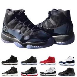 Sapatos de strass para baile on-line-Nike Air Jordan Retro Shoes Homens 11 s XI Sapatos de Basquete Jam True Azul Platinum Matiz Ginásio Vermelho Raça Barons Concord 45 Sneaker Vestido de baile midNight 11 formadores