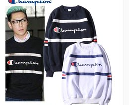 Wholesale Mens Cashmere Sweaters Fashion - 2018 new design new winter fashion lovers - and warm campus wind CASHMERE SWEATER MENS hip hop hoodies