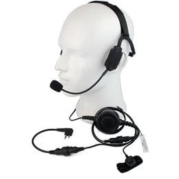 Auriculares tácticos militares de la conducción del hueso del dedo PTT MIC para Motorola GP88 / 300/2000 PRO5150 CLS1110 Radio Walkie Talkie C2225A desde fabricantes