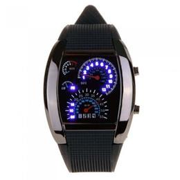 Relógio de pulso on-line-Relógio preto do diodo emissor de luz para relógios de pulso do carro do painel do velocímetro do diodo emissor de luz da faixa do silicone dos homens