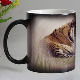 ceramica de tigre Rebajas Novedad gracioso Tigre de cerámica de animal cambia de color tazas de café Copa de té mágica super regalo