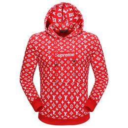 Wholesale Men Leather Catsuit - autumn fashion runway Cotton hoody fashion designer classic palace leather letter hooded medusa Brand men hoodies zipper cardigan sweatshirt