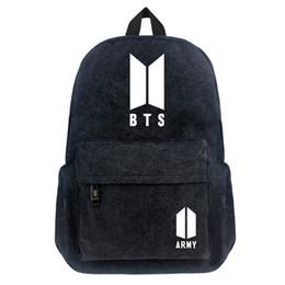 Korea sacos de escola on-line-FVIP Bangtan Meninos BTS Coréia Mochila Adolescente Estudante Escola Bags Travel Back Pack