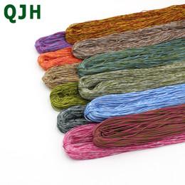 50 g / 1 bundle multicolore fai da te gancio borsa filato Nylon mercerizzato ghiaccio tessitura di seta gancio tessuto hollow linea fili ricamati a mano supplier silk diy bag da borsa diy di seta fornitori