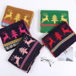 Pequeña bufanda coreana online-Otoño e invierno 2018 Nueva versión coreana fresca y fresca de venado con patrón de lana cálida bufanda de punto tejida