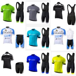 Wholesale Cube Cycling Set - COLNAGO CUBE team Cycling Short Sleeves jersey (bib) shorts sets New arrivals Knight Jersey Bike Wear Stylish Cycling Gear c2809
