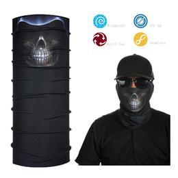 Wholesale Head Wear Cap - Skull Multi Purpose Head Wear Neck Warmer Bandana Hat Scarf Face Mask Cap
