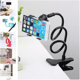 Wholesale Universal Car Tablet Mount - Universal phone holder 360 Rotating Flexible Long Arm lazy Phone Holder Clamp Lazy Bed Tablet Car Selfie Mount Bracket for Phone