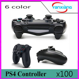 Wholesale Usb Console Cable - 100pc New PS4 Wireless controller gamepad joystick joypad for PS4 game console with USB charge cable two vibration touchpad functioYX-PS4-11