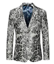 Chaqueta de han online-Europa y los Estados Unidos la nueva boutique han edición hombre invierno boda anfitriones patios grandes traje blanco chaqueta 263 / M-6XL