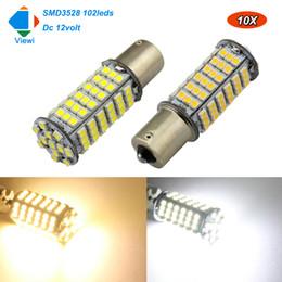 Wholesale 12v Ba15d Led - Viewi 10X 1156 1157 BA15S BAY15D led car lights super brightness Dc 12v 3.5W Auto turn Signal Reverse light Brake bulb lamp