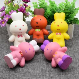 Wholesale Super Cute Rabbit - 13CM Jumbo Kawaii Cute Squishy Rabbit Bunny Bread Cake Super Soft Slow Rising Charm Sweet Scented Kid Toy