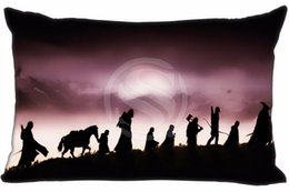 Wholesale lord rings print - Hot The Lord of the Rings &8 Rectangle Pillowcase zipper Classic boutique Custom Pillow Case size 35X45cm (One Side) 8-22#l57wu