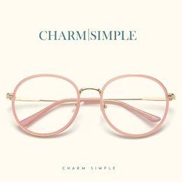 f749f97aabd 2018 Retro Round Glasses Frames Fashion Women Men Myopia Optical Frame  Excellent Clear Lens Eyeglasses Vintage Spectacles Frames
