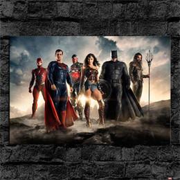 Wholesale Wonder Woman Figure - Oil Painting HD Print,Superman VS Batman Wonder Woman,Justice League,Wall Art Decor for Living Room Home Modern Decoration Framed Unframed