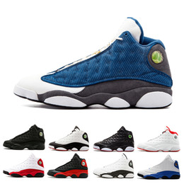 85e42f97e80 2019 mens basketball shoes 13 13s GS Hyper Royal Italy Blue Chicago Bred  DMP Wheat Olive Ivory Black Cat Men sports sneakers