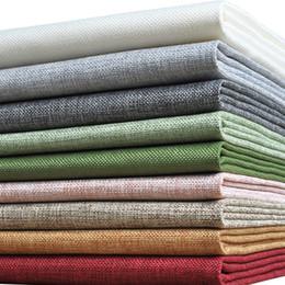 Medidor de lino online-Tela de lino colorida 2018 Tejido precortado barato del paño para la tela de costura de la cortina por el metro Tecido Telas por Metros