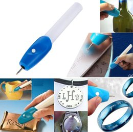 Wholesale Electric Engrave Pen - Mini Engraving Pen Electric engraving pen lettering painting pen carving brush with 1 round head Machine Grave Tool 120pcs GGA84