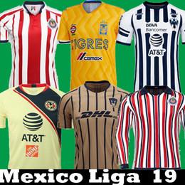 b9c66a83510 DHL Shipping 2018 2019 Mexico Liga MX CHIVAS Guadalajara Long Club America  UNAM TIGRES Monterrey Soccer Jerseys 18 19 Cuervos Football Shirt