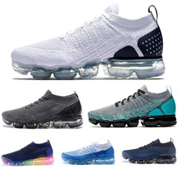 pretty nice 5ad00 800c3 2019 eva bene New Fashion Men Air Cushion 2.0 Nero Bianco Blu Good Running  Shoes Triple