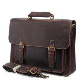 Wholesale Leather Cowboy Bags - 2017 Summer Man Single Shoulder Briefcase Luxury Cowboy Oil Skin Leather Bags Affairs Computer Package messenger handbags