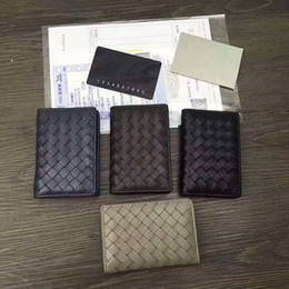 Wholesale organizer banks - New Arrival Wholesale Craftsmanship Card Case New Brand Men's Genuine Leather knitting business Card Holders ID Card Bank Woman hasp Wallet
