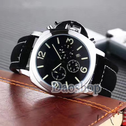 Wholesale Auto P - 2018 All Subdials Work Luxury Top Quality watch Firenze Best Edition P.3000 quartz Movement Marina Mens leather outdoor Sports Watch invicta
