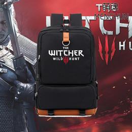 novos jogos de caça Desconto Novo design do jogo conceito de vídeo game Pc The Witcher Caça Selvagem mochila fãs mochilas presente para namorado sacos nb185