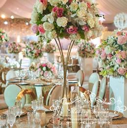 suporte de vaso alto Desconto Alto do casamento Flower Stand decorativas Colunas da tabela do casamento Decoração Centerpieces Casamento Anniversary vaso