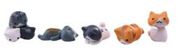 Olla de gato online-6 Unids / set Lindos Gatos Perezosos de Dibujos Animados Para Micro Paisaje Gatito Microlandschaft Pot Culture Tools Jardín Decoraciones