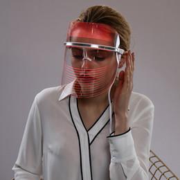 masque facial pour les rides Promotion Équipement de beauté LED Masque facial Utilisation à domicile Visage Beauté Instrument Thérapie par la lumière pour le traitement de l'acné Remover Remover Peau Rajeunissement