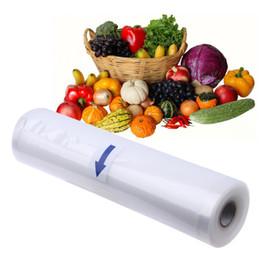 Vakuum lebensmittel taschen rollen online-Roll Food Aufbewahrungstasche 20x500cm Roll Vacuum Sealer Lebensmittel Schonbeutel Home Kitchen Storage Organisation Plastiktüten E5M1