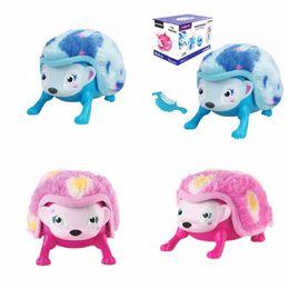 Wholesale Plush Pet Toy - Intellisense Tumbling Hedgehog Plush Toy Electronic Induction Light Sounds Toy Intelligent Hedgehog Touch Pet Kids Children Toys AAA386