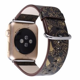 2019 orologi stampati floreali Cinturino in pelle per Apple Watch 38mm 42mm Serie 1 Serie 2 Serie 3 Cinturino a fiori Stampa floreale Bracciale per orologio da polso I212.