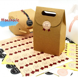 "Wholesale Homemade Packaging - Wholesale ""Hand Made"" round Packaging stickers self-adhesive stickers labels homemade DIY tags for cookie cake gift packaging decoration"