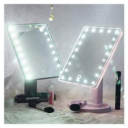 Wholesale 16 Led Screen - 360 Degree Rotation led Touch Screen Make Up Mirror Cosmetic Folding Portable Compact Pocket With 16 22 LED Lights Makeup Tool