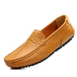 herren lässig weiche leder-müßiggänger Rabatt Frühling Herbst Leder Mens  Freizeit Flache Schuhe Marke Männlich 2f7805c3c7