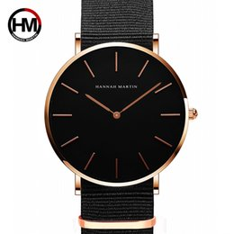 Нейлоновые унисекс спортивные часы онлайн-Japan Quartz Movt Men Simple Waterproof Fashion  Black Nylon Sport Casual Watches Men Women Unisex Wristwatch Dropshipping