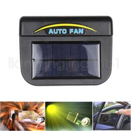2019 ventilaciones de refrigeración para automóviles Solar Auto Cool Fan Car Automóvil Sistema de ventilación Sistema de ventilación con ventilador Ventilador de aire Ventilador Ventilador decoración del hogar GGA529 20PCS ventilaciones de refrigeración para automóviles baratos