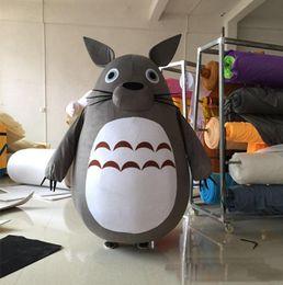 disfraz de totoro vecino Rebajas 2018 venta caliente traje de la mascota de Chinchilla mi vecino Totoro traje de dibujos animados fiesta de Navidad de lujo