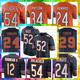 Top Sale 10 Mitchell Trubisky Chicago Bears Jersey 54 Brian Urlacher 34  Walter Payton 58 Roquan Smith 17 Anthony Miller 24 Howard 29 Cohen 2c898aa3a