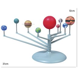Wholesale project systems - 2018 New Children's Educational Diy Explore Nine Planets in Solar System Planetarium Painting Science Fair Project Teaching Toys