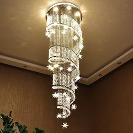 lustre de pingos de cristal Desconto Modern K9 Lustre De Cristal Pingente de Iluminação de Montagem Luminária LEVOU Luminária de Teto Luminária para Sala de estar Corredor com lâmpadas GU10
